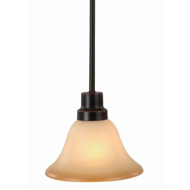 Oil Rubbed Bronze Mini-Pendant Light Fixture : 16-7550