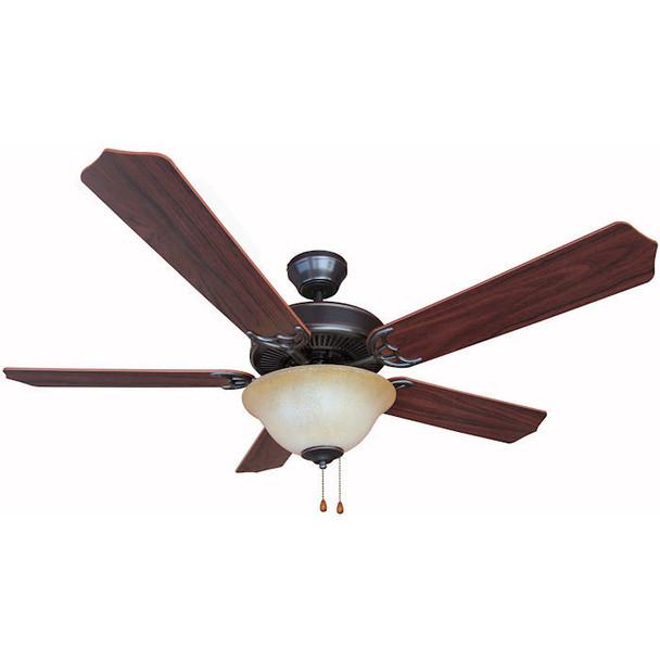 """Oil Rubbed Bronze 52"""" Ceiling Fan w/ Light Kit : 9837"""