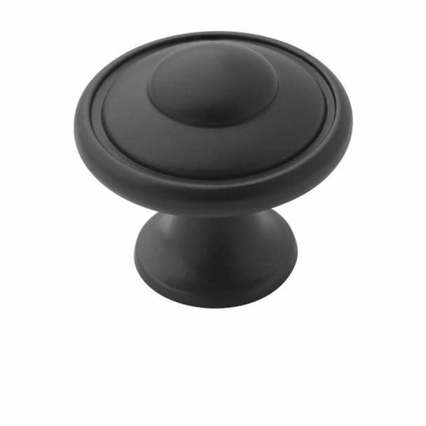 Amerock BP53002-FB Allison Flat Black Discus Cabinet Knob