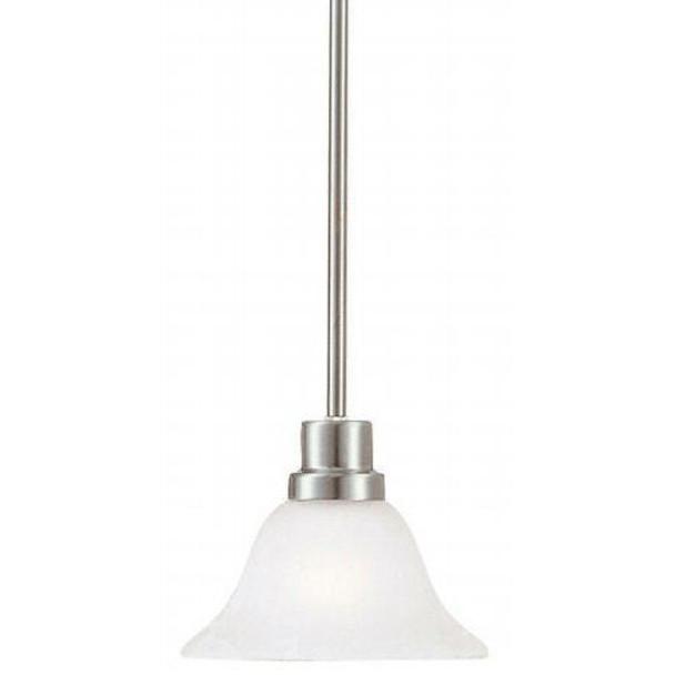 Satin Nickel Mini-Pendant Light Fixture : 54-4668