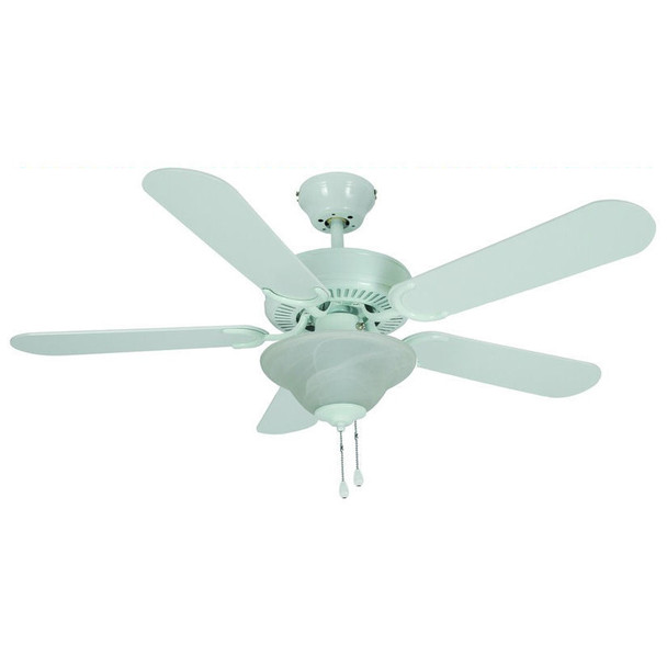 "White 42"" Ceiling Fan w/ Light Kit : 3579"