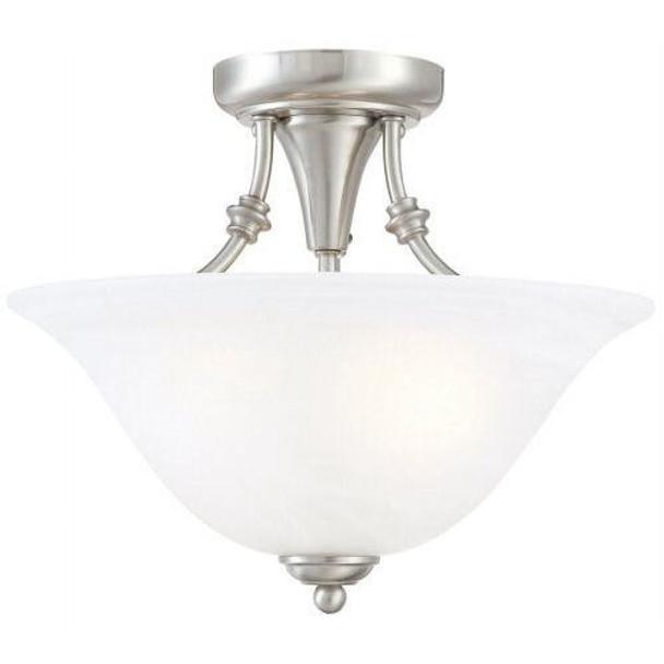 Satin Nickel Semi-Flush Mount Ceiling Light Fixture : 54-4676