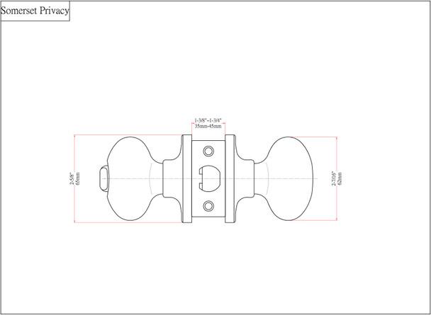 Designers Impressions Somerset Design Oil Rubbed Bronze Privacy Door Knob: 33-2666