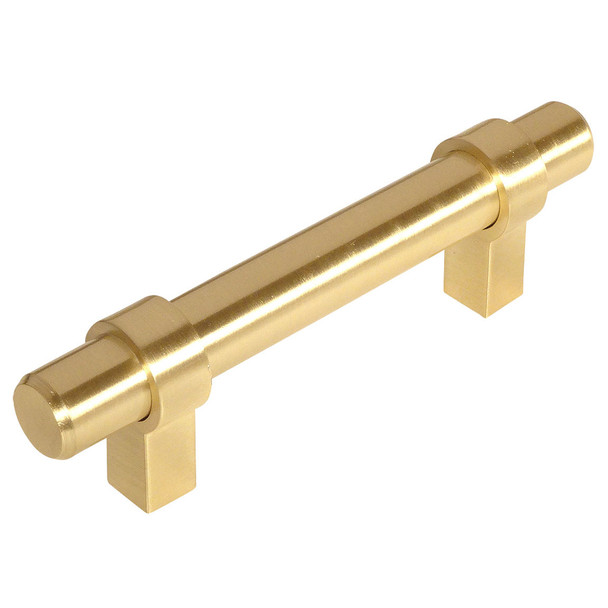 Cosmas 161-2.5BB Brushed Brass Cabinet Hardware Euro Style Bar Pull