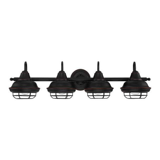 Designers Impressions Charleston Series Oil Rubbed Bronze 4 Light Wall Sconce / Bathroom Fixture: 10013