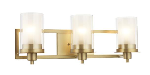 Juno Brushed Brass 3 Light Wall Sconce / Bathroom Fixture: 73487