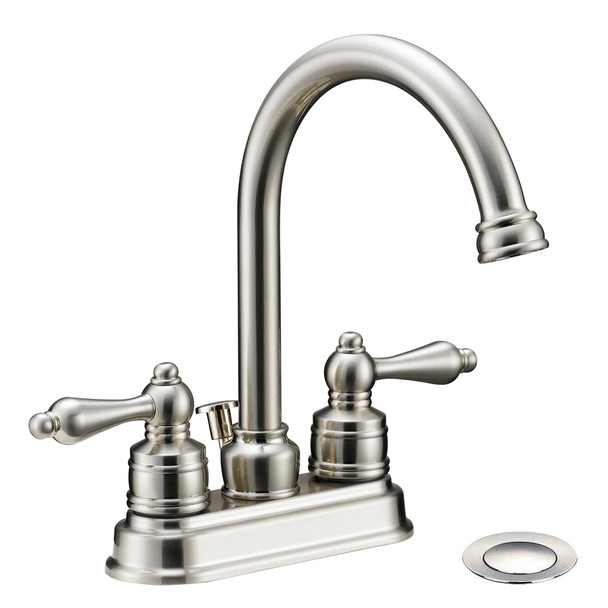 Designers Impressions 617430 Satin Nickel Lavatory Vanity Faucet