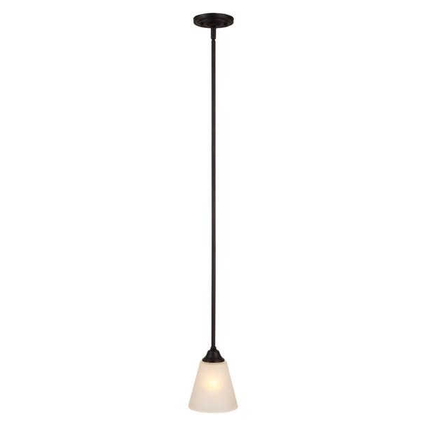 Designers Impressions Countryside Matte Black Mini-Pendant Light Fixture : 10022