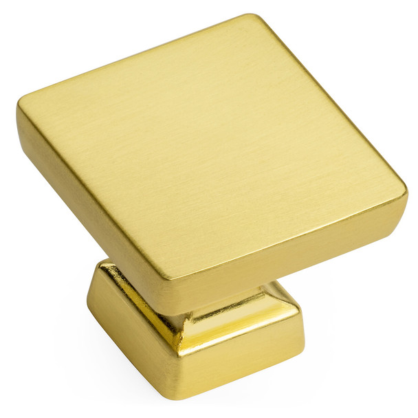 Cosmas 1480BB Brushed Brass Modern Contemporary Square Cabinet Knob