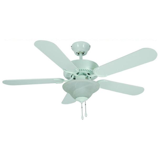 """White 42"""" Ceiling Fan w/ Light Kit : 0567"""