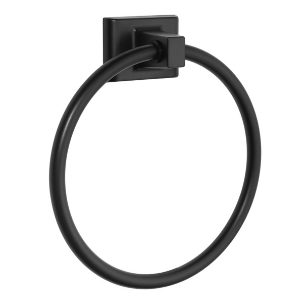 Designers Impressions Eclipse Series Black Towel Ring: MBA2224
