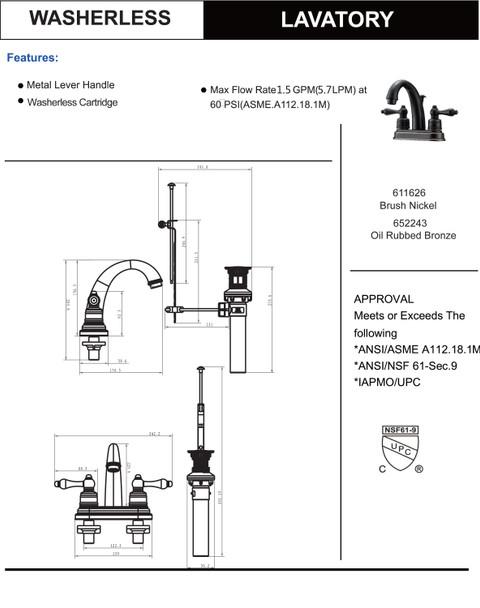 Designers Impressions 652243 Oil Rubbed Bronze Lavatory Vanity Faucet
