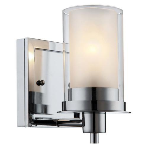 Discount Bathroom Lights: Avalon Chrome 1 Light Wall Sconce / Bathroom Fixture: 21