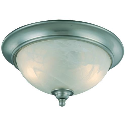 Satin Nickel Flush Mount Ceiling Light Fixture : 10-4449 ...