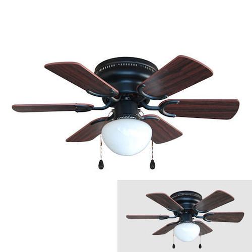 "Oil Rubbed Bronze 30"" Hugger Ceiling Fan W/ Light Kit"