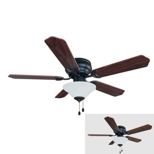 Oil Rubbed Bronze 42 Quot Hugger Ceiling Fan W Light Kit