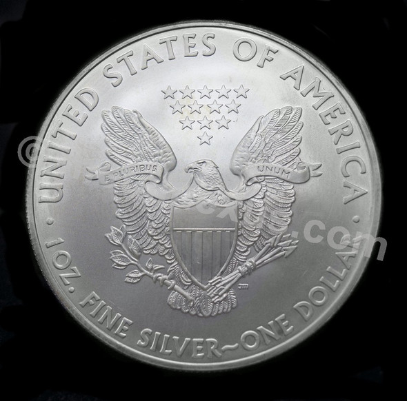1 Oz Fine Silver Eagle - Back