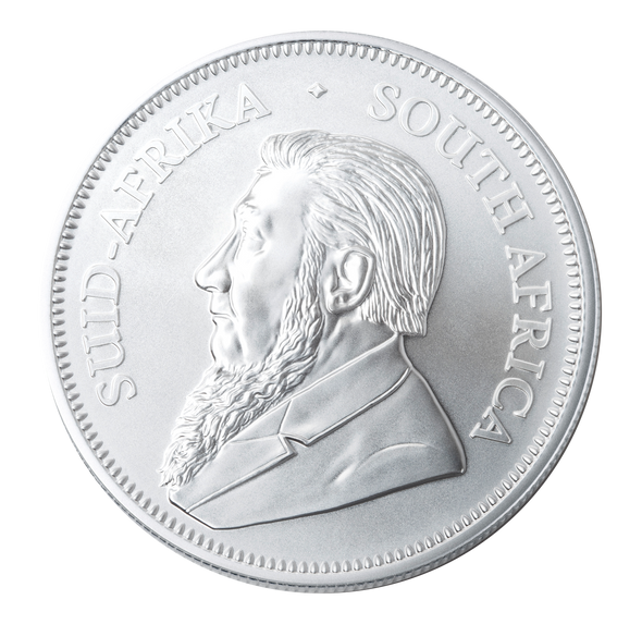 Krugerrand 1 Oz Silver Bullion Coin - Obverse.