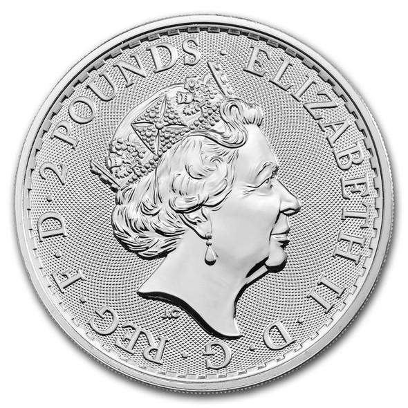 Silver Britannia 1 Oz - Obverse