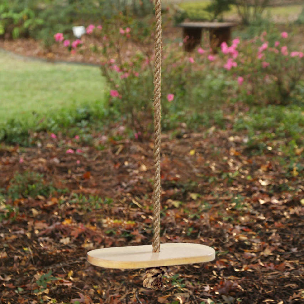 Classic Disc Hard Maple Wooden Swing With Rope