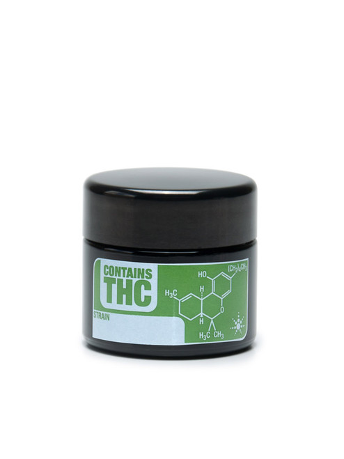THC Small UV Screw Top Jar