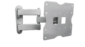 K2-A2-S Articulating Arm Mount for Displays up to 35 lbs. VESA 75/100/200 - Silver