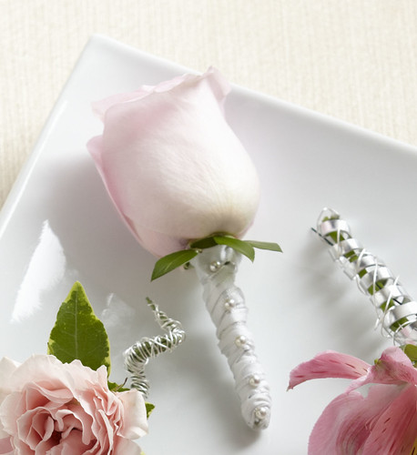 ThePink Rose Boutonniere