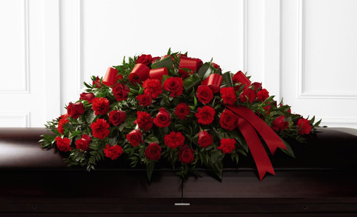 The FTD Tribute of Life Casket Spray