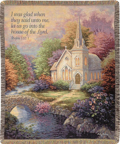 Church in the Country Tapestry Throw
