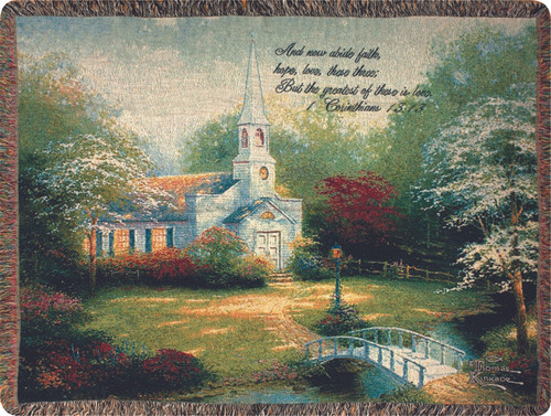 Hometown Chapel Tapestry Throw