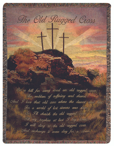 Old Rugged Cross Tapestry Throw