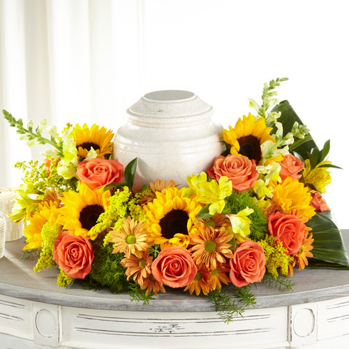 FTD Faithful Sunflower Cremation Adornment