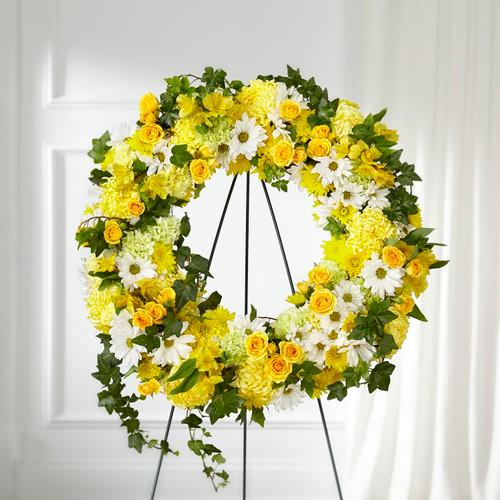 FTD Golden Remembrance Wreath