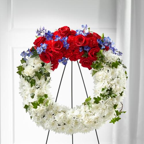 FTD Patriotic Passion Wreath
