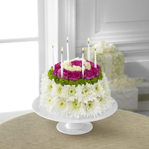 TheWonderful Wishes Floral Cake