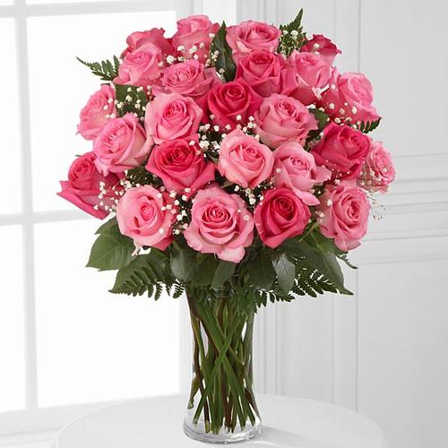 2 Dozen Rose Bouquet - Choose Color