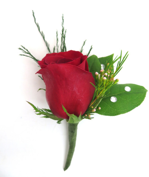 Classic Rose Prom Boutonniere