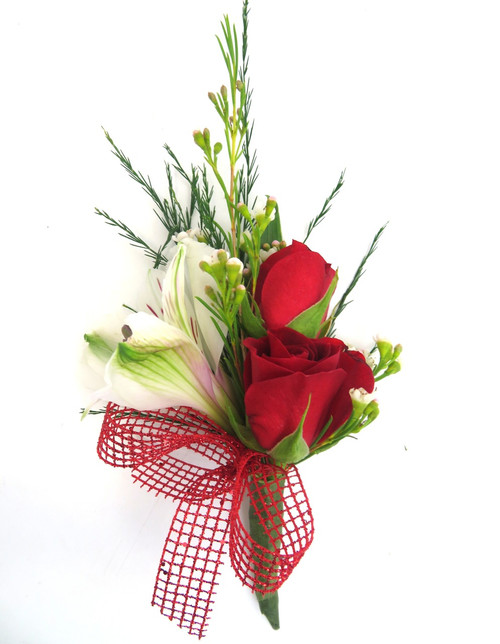 Mixed Flower Prom Boutonniere