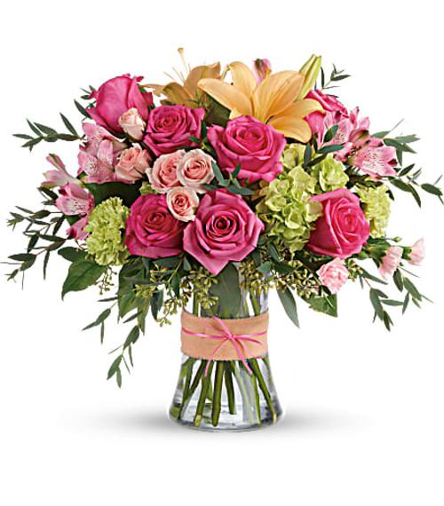 Teleflora's Blush Life Bouquet