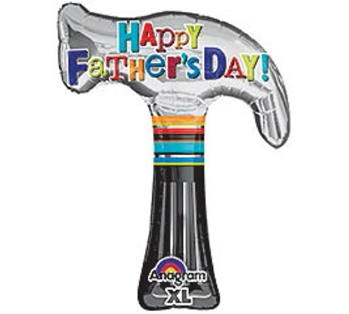 Happy Father's Day Hammer Mylar Balloon