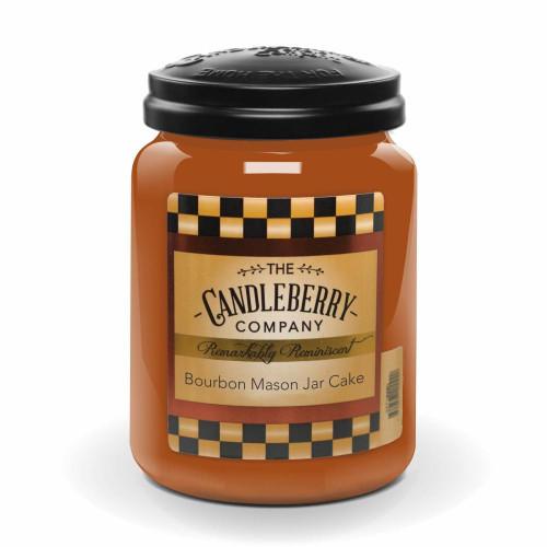 Bourbon Mason Jar Cake Candle
