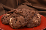 Chocolate 3 times; semi-sweet, milk, and white chocolate chunks in a cocoa-flavored dough.