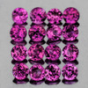 2.00 mm 50 pcs Round Brilliant Machine Cut Natural AAA Raspberry Pink Rhodolite Garnet {VVS}
