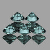 3.50 mm 5 pcs Round Diamond Cut Teal Blue Green Sapphire Natural {Flawless-VVS1}--Unheated