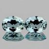 7x5 mm 2 pcs Oval AAA Fire AAA Blue Aquamarine Natural  {Flawless-VVS}