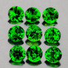 3.00 mm 9 pcs Round Best AAA Chrome Green Diopside Natural {Flawless-VVS}