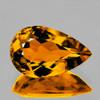9x6 mm Pear Intense AAA Golden Yellow Beryl 'Heliodor' Natural {Flawless-VVS1}