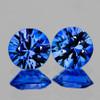 3.50 mm 2 pcs Round Machine Cut AAA Ceylon Blue Sapphire Natural {Flawless-VVS}--AAA Grade