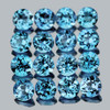 2.00 mm 50 pcs Round Best Sparkling Swiss Blue Topaz Natural {Flawless-VVS1}