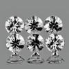 1.50 mm 6 pcs Round COLOR D-F White Diamond Natural {VVS} AAA Grade
